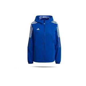 adidas-tiro-21-windbreaker-damen-blau-gp4973-teamsport_front.png