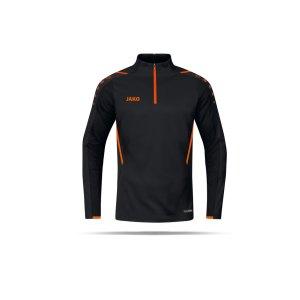 jako-challenge-ziptop-kids-schwarz-orange-f807-8621-teamsport_front.png