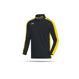 jako-striker-ziptop-sweatshirt-kinder-teamsport-ausruestung-freizeit-mannschaft-f03-schwarz-gelb-8616.png