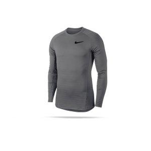 nike-pro-warm-langarm-shirt-grau-schwarz-f036-929721-underwear-langarm.png