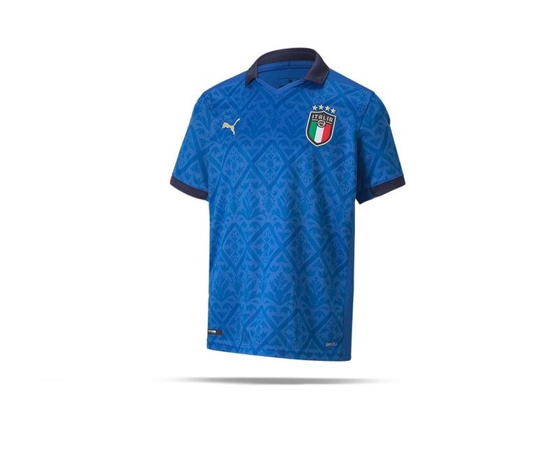 PUMA Italien Trikot Home EM 2021 Kids Blau (001) - blau