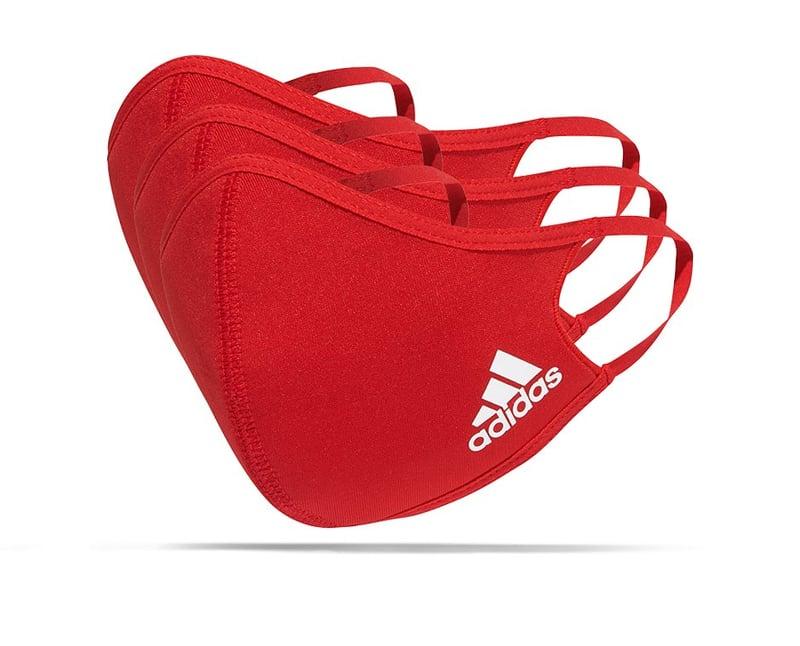 adidas Gesichtsmaske Gr. S 3er Set (H18815) - rot