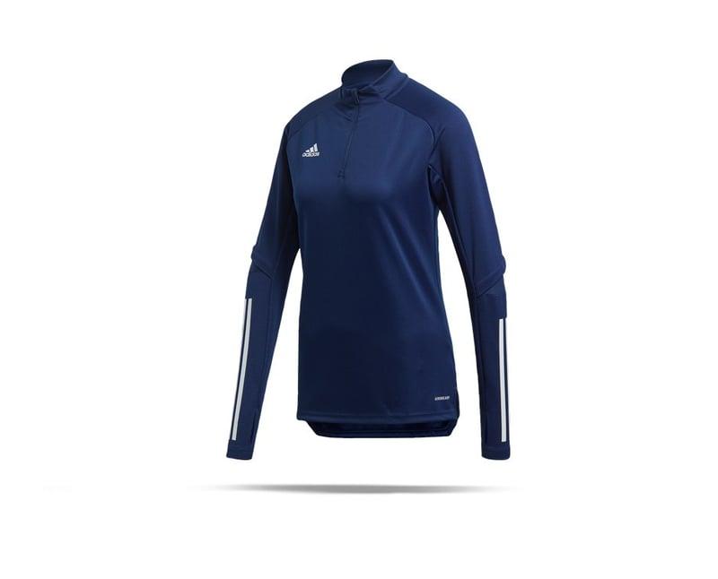 adidas Condivo 20 Training Top 1/4 Zip Damen (FS7093) - blau