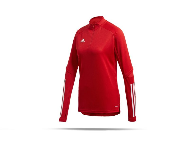 adidas Condivo 20 Training Top 1/4 Zip Damen (FS7095) - rot