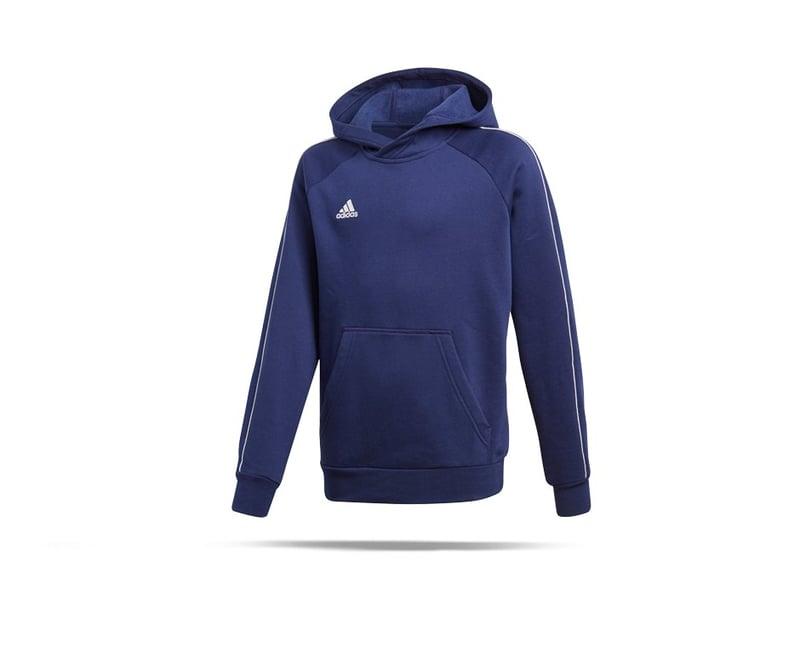 adidas Core 18 Hoody Kapuzensweatshirt Kinder (CV3430) - blau
