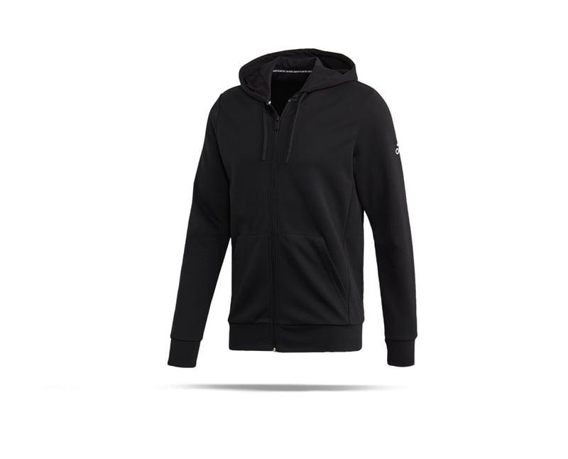 adidas Must Haves Plain Kapuzenjacke (FL3948) - schwarz