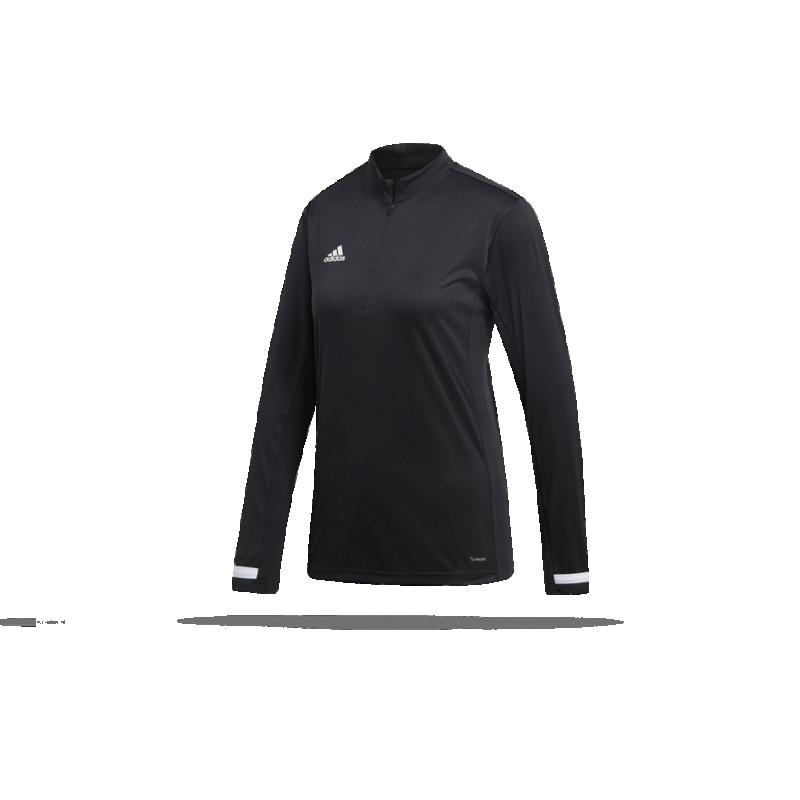 adidas Team 19 1/4 Zip Training Top Sweatshirt Damen (DW6851 - Schwarz