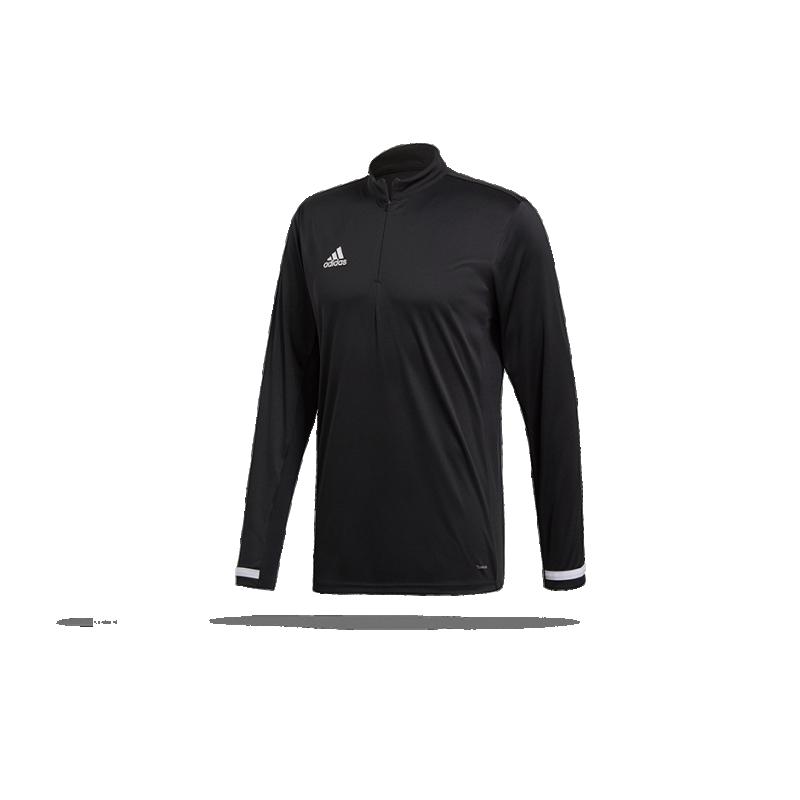 adidas Team 19 1/4 Zip Training Top Sweatshirt (DW6852) - Schwarz
