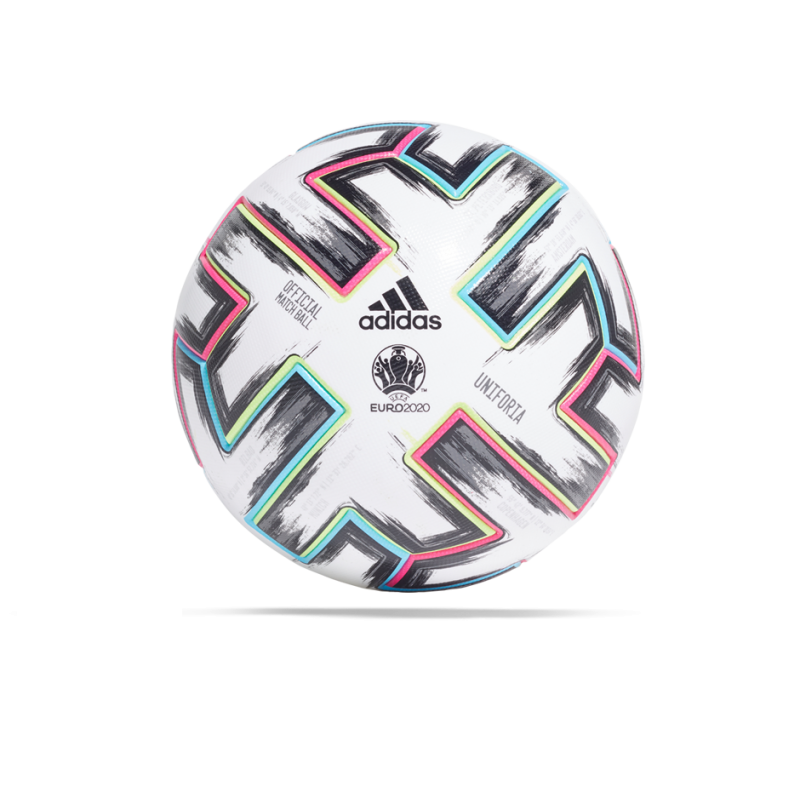adidas Uniforia PRO EM 2020 OMB Spielball (FH7362) - Weiß