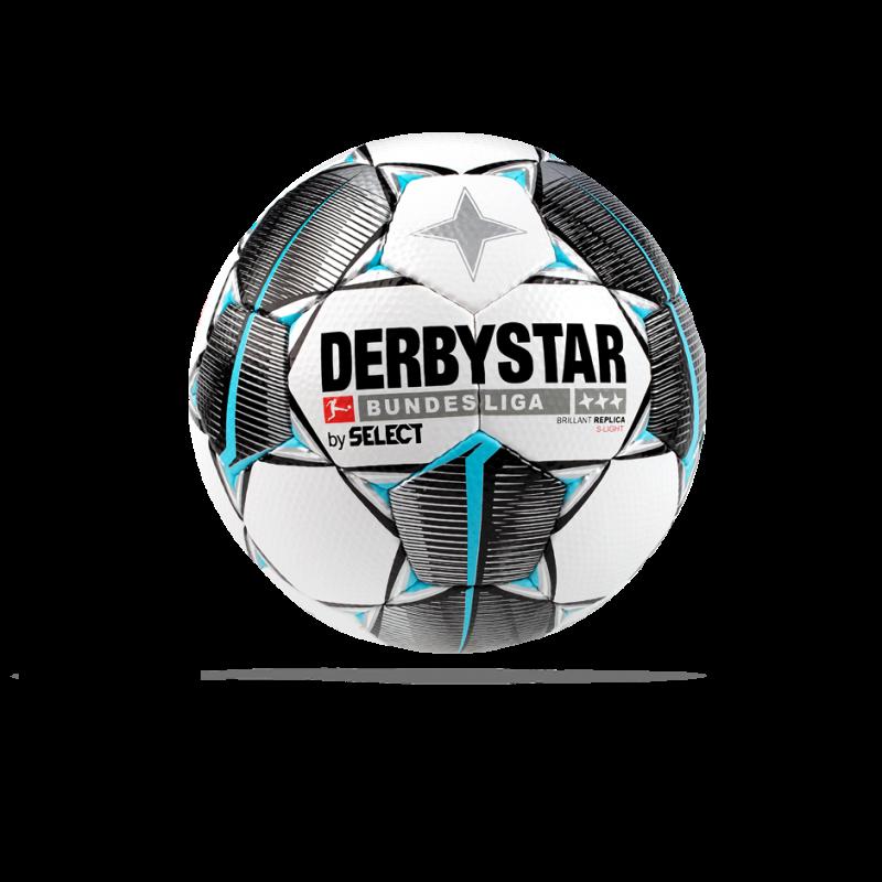 DERBYSTAR Bundesliga Brillant Replica S-Light 19/20 Fussball - Weiß