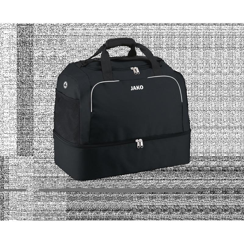 JAKO Classico Sporttasche mit Bodenfach Gr. 3 (008) - Schwarz