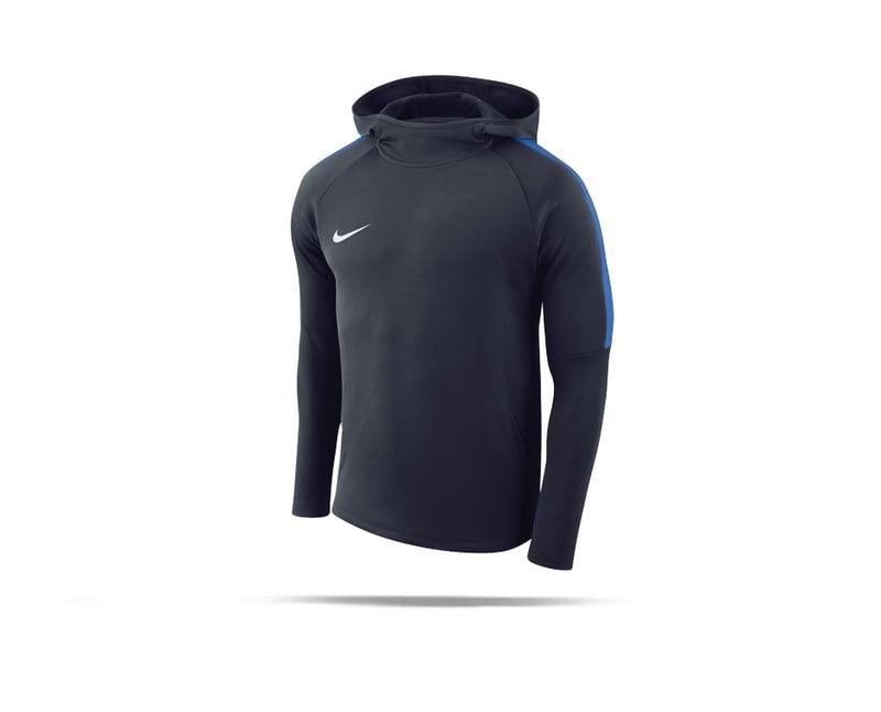 NIKE Academy 18 Hoody Sweatshirt (451) - blau