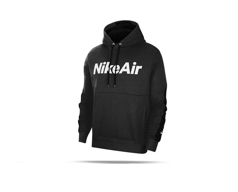 NIKE Air Fleece Hoodie (010) - Schwarz