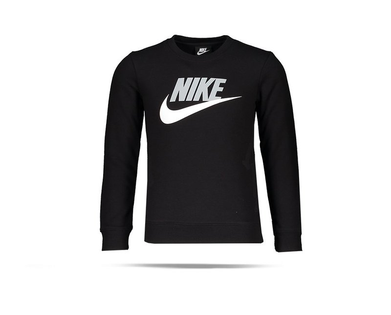 NIKE Club Crew Sweatshirt Kinder (023) - Schwarz
