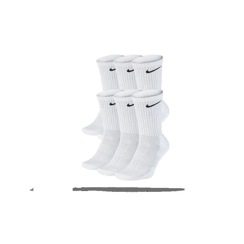 NIKE Everyday Cushion Crew 6er Pack Socken (100) - Weiß