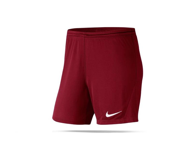 NIKE Park III Knit Shorts Damen (677) - rot