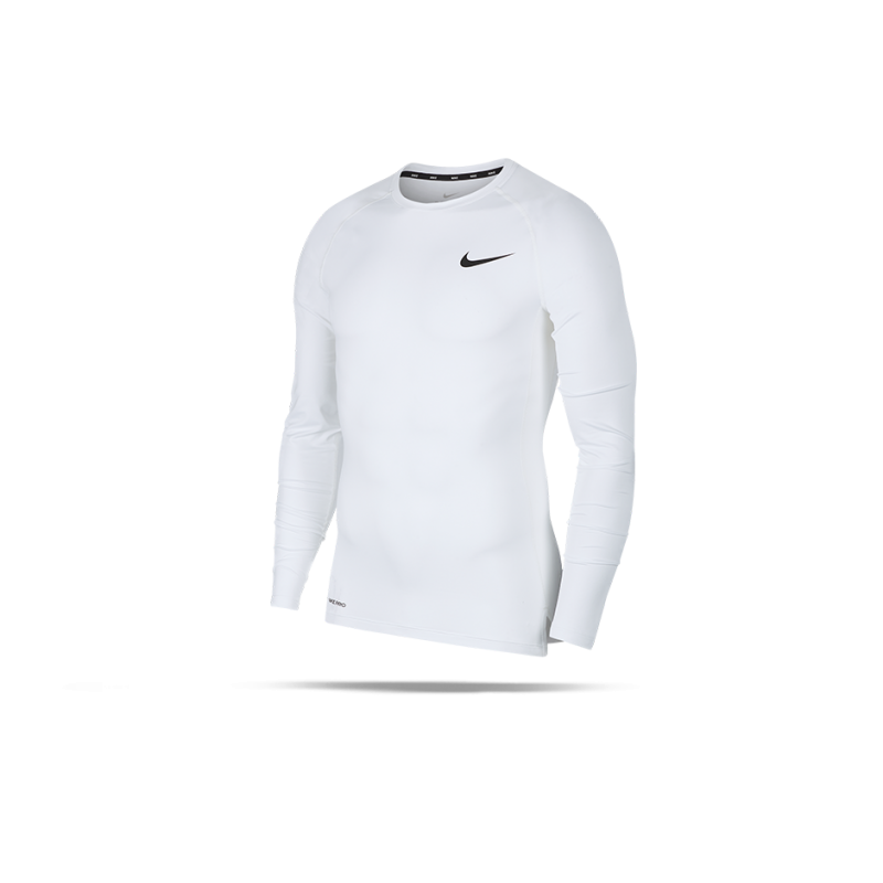 NIKE Pro Compression Long Sleeve Shirt (100) - Weiß