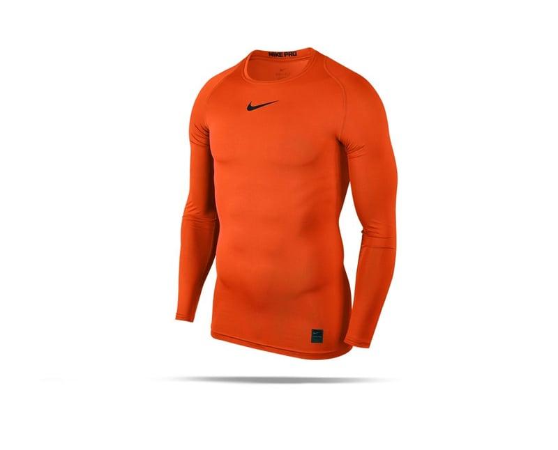 NIKE Pro Compression Longsleeve Shirt (819) - orange