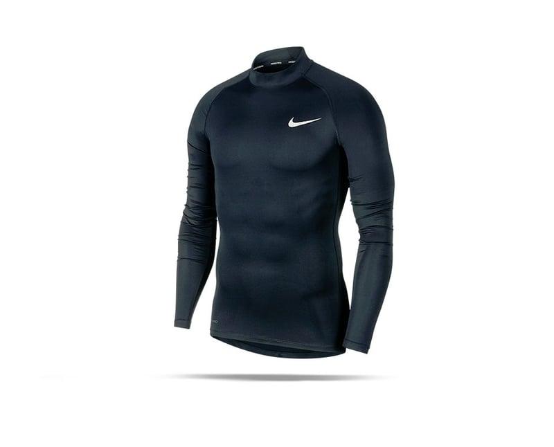 NIKE Pro Compression Mock Long Sleeve Shirt (010) - schwarz
