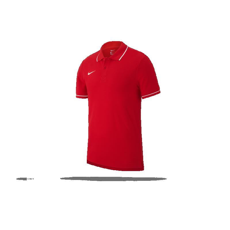 NIKE Team Club 19 Polo-Shirt (657) - Rot