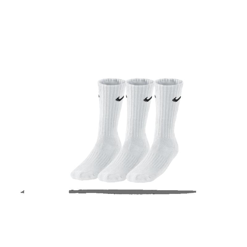NIKE Value Cotton Crew 3er Pack Socken (101) - Weiß