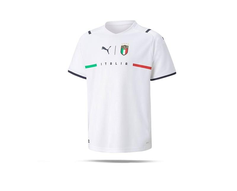 PUMA Italien Trikot Away EM 2021 Kids Weiss (008) - weiss