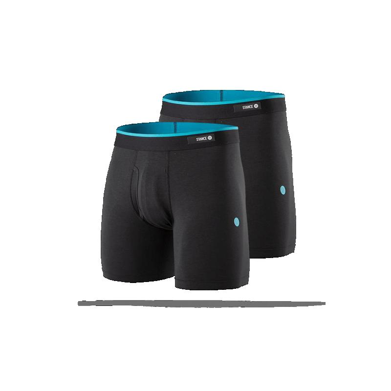 STANCE Staple Boxershorts 7 Inch 2er Pack (SPK) - Schwarz
