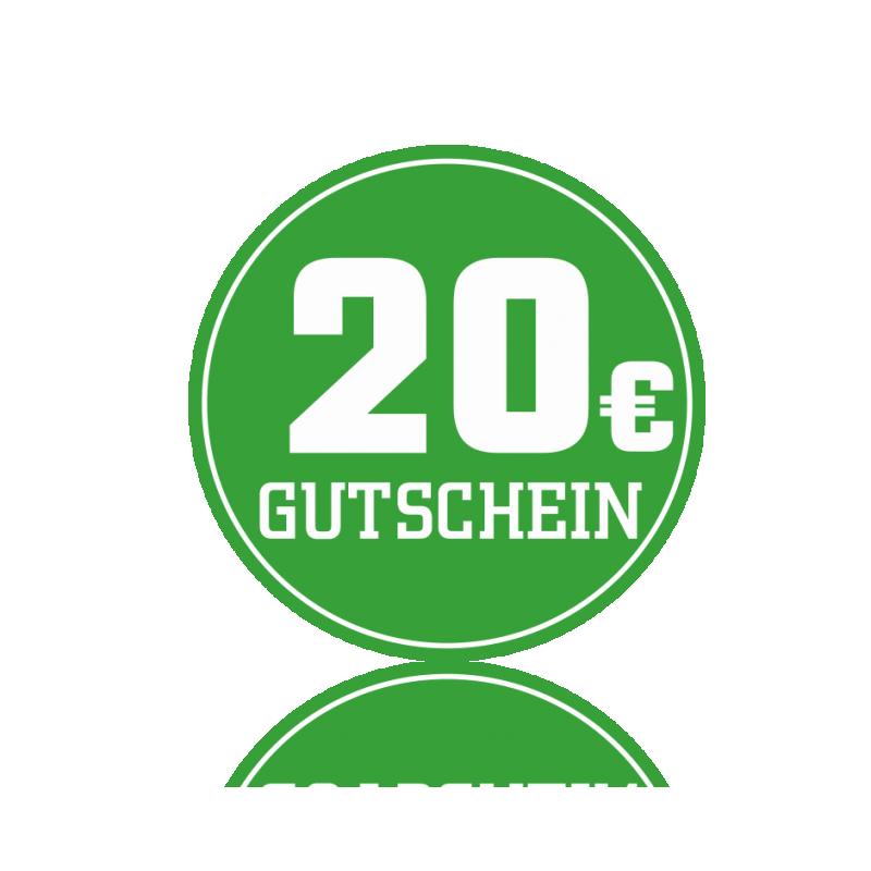 Wertgutschein 20 € -